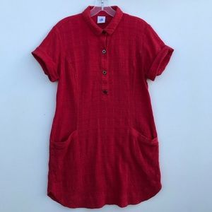 CAbi 5117 Hibiscus Cover Up Mini Shirt Dress #1424